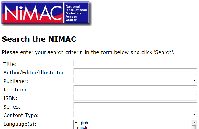 NIMAC Search Image