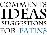 Comments Ideas Suggestions for PATINS Image Link