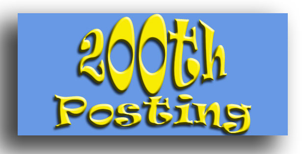 200th Blog Posting Image Click For Special Opportunity