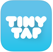 TinyTap app Logo.  Light blue with the words Tiny Tap inside